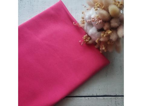 Трикотаж однотонный футер двунитка розово-ягодный
