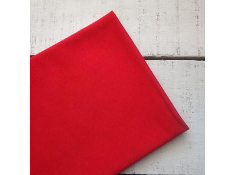 Трикотаж однотонный футер двунитка красный