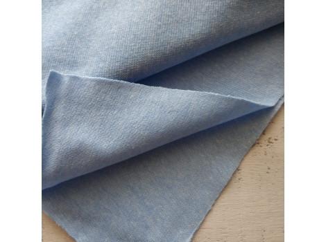 Трикотаж рибана голубой меланж