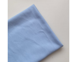 Трикотаж однотонный футер двунитка голубой