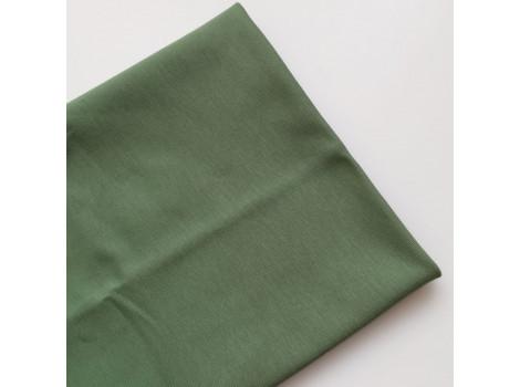 Трикотаж однотонный футер двунитка зеленый самшит