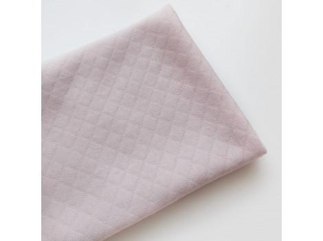 Трикотаж стеганый ромбики светлый пудрово-розовый