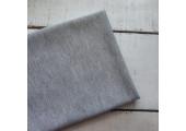 Трикотаж однотонный футер двунитка серый меланж
