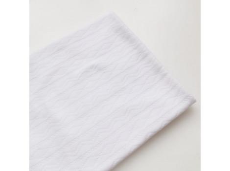 Трикотаж интерлок ажурные полоски белый