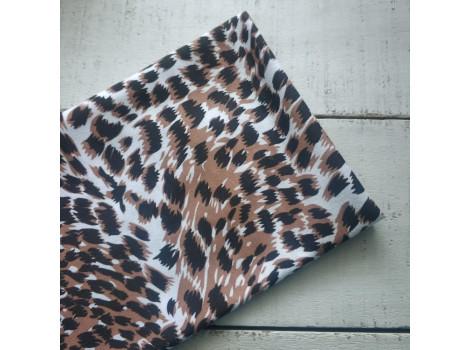 Трикотаж кулирка леопард абстракция