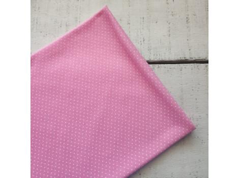 Трикотаж кулирка горошек-пшено розовый