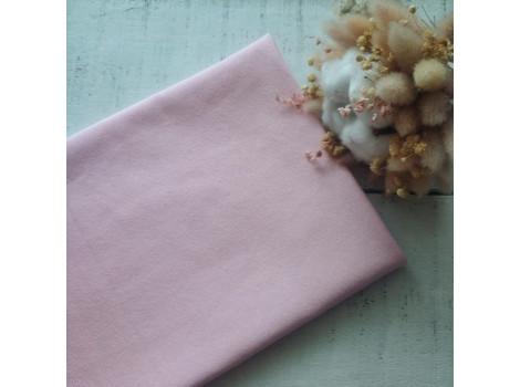 Трикотаж однотонный футер двунитка розовая сакура
