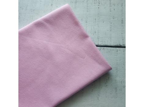 Трикотаж однотонный футер двунитка розовый лед