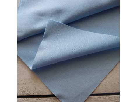 Трикотаж интерлок голубой