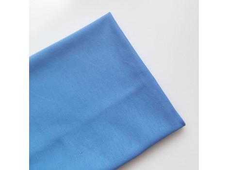 Трикотаж однотонный футер двунитка голубой василек