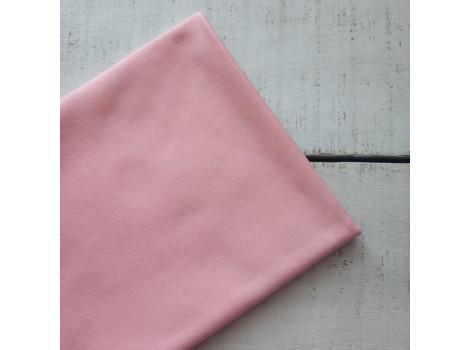 Трикотаж однотонный футер двунитка розовый персик
