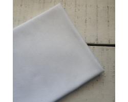 Трикотаж однотонный футер двунитка белый снежный