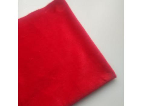 Плюш однотонный красный