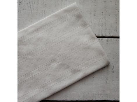 Трикотаж ажурный теплый белый