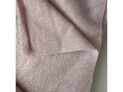 Трикотаж тонкий с люрексом розовый