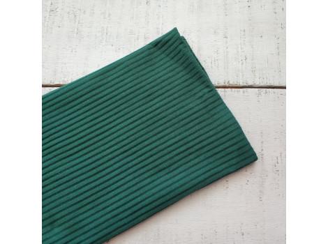 Трикотаж лапша темно-зеленый