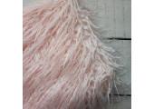 Искусственный мех длинноворсый кудрявый светло-розовый