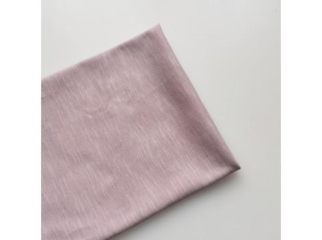 Трикотаж кулирка розовая пудра меланж