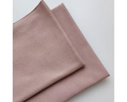 Набор трикотажа: футер и кашкорсе цвет какао pink