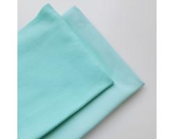 Набор трикотажа: футер и кашкорсе цвет мятный