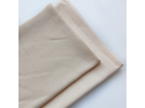 Набор трикотажа: футер и кашкорсе цвет крем-экрю