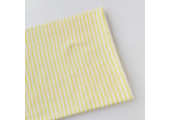 Трикотаж интерлок бело-желтая полоска 3 мм