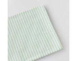 Трикотаж интерлок бело-зеленая (салатовая) полоска 3 мм