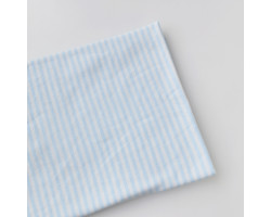 Трикотаж интерлок бело-голубая полоска 3 мм
