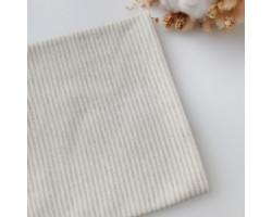 Трикотаж интерлок серо-зеленая полоска 2 мм