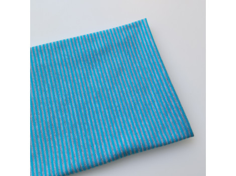 Трикотаж кулирка серо-голубая полоска 2 мм