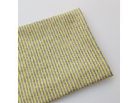 Трикотаж кулирка серо-желтая полоска 2 мм