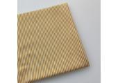 Трикотаж интерлок узкая горчичная полоска 2 мм