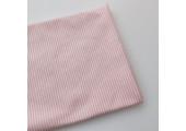 Трикотаж интерлок узкая нежно-розовая полоска 2 мм