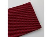 Трикотаж кулирка красно-черная полоска 2 мм