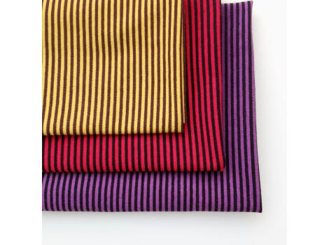 Трикотаж кулирка фиолетово-черная полоска 2 мм
